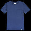 Merz B. Schwanen Good Basics - Crew Neck Tee with Pocket in Deep Blue