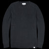 Merz B. Schwanen Good Basics - Oversized Crew Neck Pullover in Deep Black