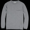 Merz B. Schwanen Good Basics - Relaxed Crew Neck Pullover with Pocket in Grey Melange