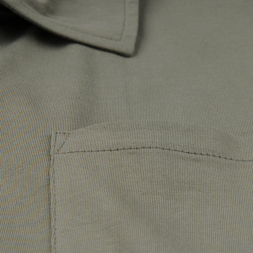Polo Shirt with Pocket in Army