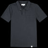 Merz B. Schwanen Good Basics - Polo Shirt with Pocket in Deep Black