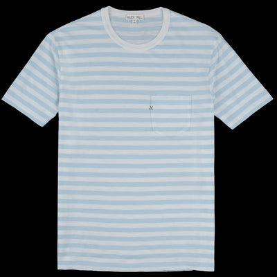 Alex Mill - Striped Ringer Tee in White & Cloud