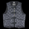 Monitaly - Quilted Cincho Vest in Zigzag Dotera Black
