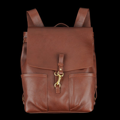 Lotuff - Leather Knapsack in Chestnut