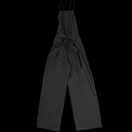 The Field Jumpsuit in Black Raw Silk