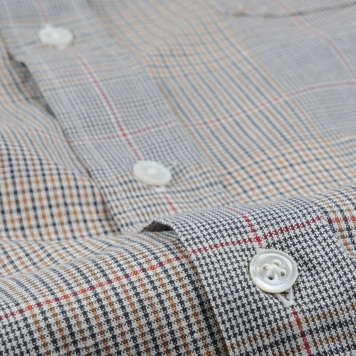 Paul Shirt in Carbone Camel & Wine Plaid