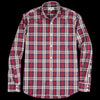 Hartford - Paul Shirt in Red Navy Camel & Chalk Plaid