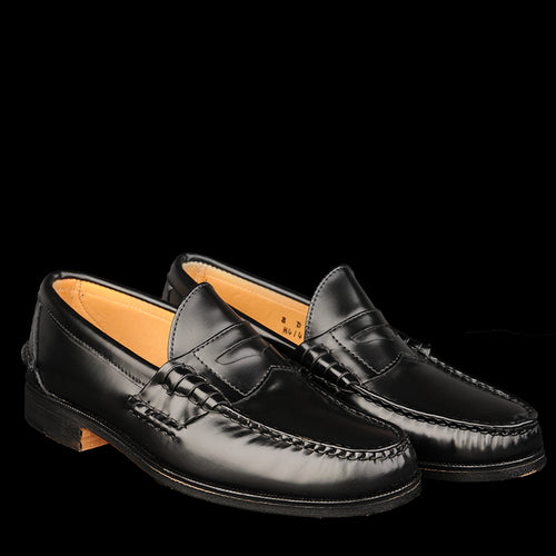 Cape Cod Beefroll Penny Mocc In Black H414