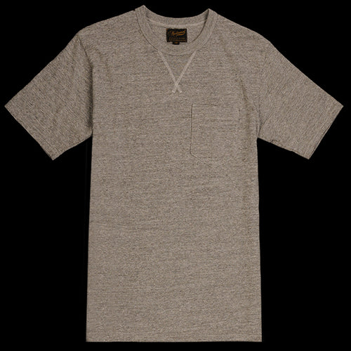 V Pocket Tee in Mid Grey