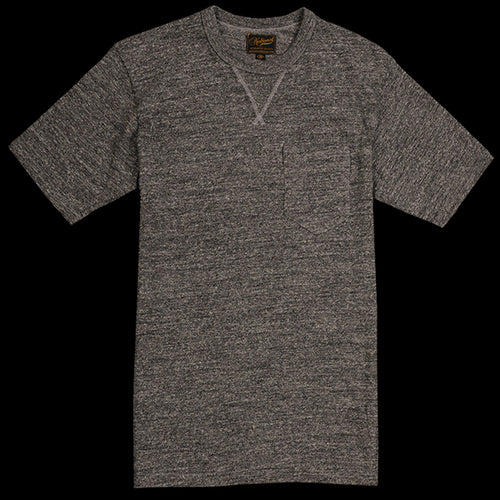 V Pocket Tee in Dark Grey