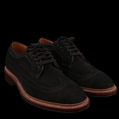 Alden - Cooper Long Wing in Black Suede D4515