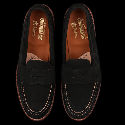 Alden - Brenham Leisure Loafer in Black Suede 62413F