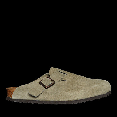 Birkenstock - Boston in Taupe Suede