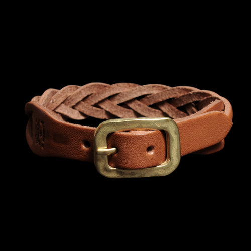Braided Bracelet in Cognac