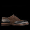 Alden - Campbell Two Tone Shortwing in Black Alpine and Dark Chocolate Suede D3301