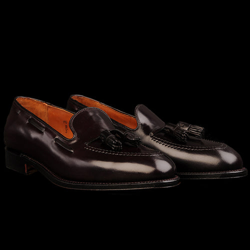 Cordovan Tassel Mocc in Color 8 Burgundy 563