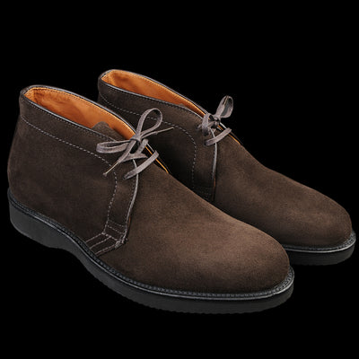 Alden - Quane Chukka Boot in Dark Chocolate Suede D8706