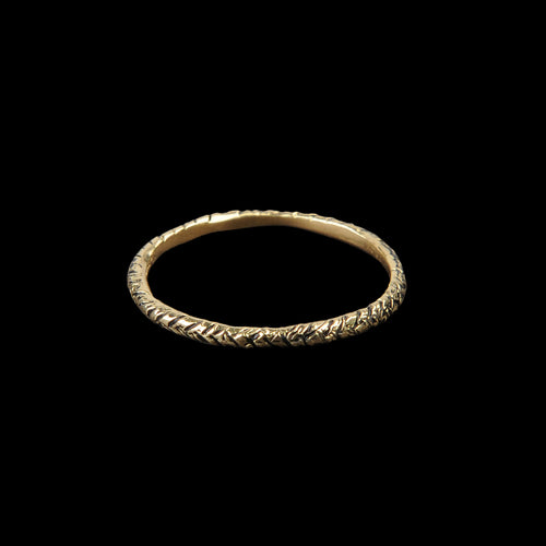 Textured Band in 18K Yellow Gold