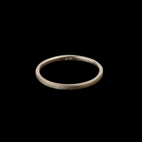 Matte Textured Ring in 18K Yellow Gold