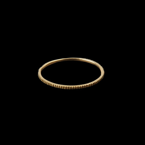 Petite Gear Ring in 18K Yellow Gold