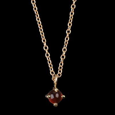 Kristen Elspeth - Neptune Necklace with Small Carnelian in 14K Gold