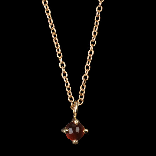 Neptune Necklace with Small Carnelian in 14K Gold