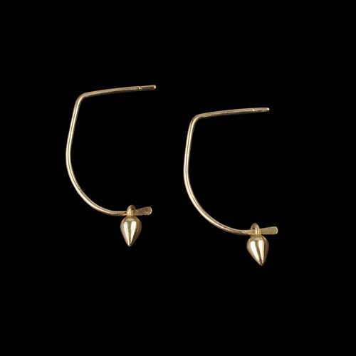 Dew Earrings in 14K Gold