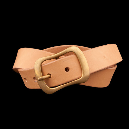 No. 8 Buckle with 1.25 Inch Wide Belt in Natural
