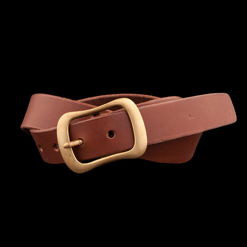 No. 8 Buckle with 1.25 Inch Wide Belt in Brown