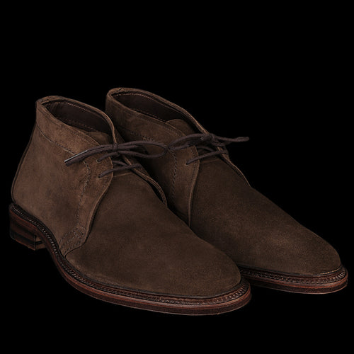 Unlined Chukka Boot in Dark Brown Suede 1492