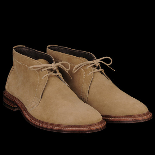 Unlined Chukka Boot in Tan Suede 1494