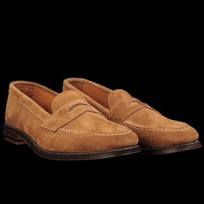 Alden - Unlined Flex Penny Loafer in Snuff Suede 6243F