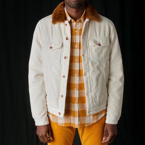Soft Corduroy Thunder Jacket in Butter