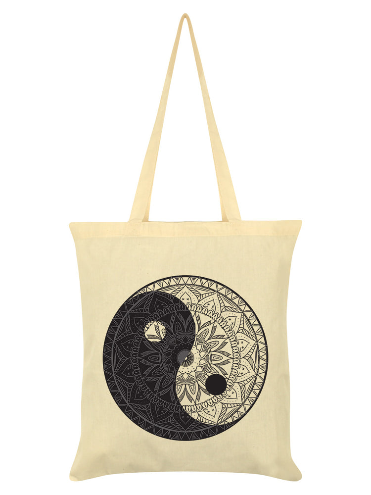 Unorthodox Collective Yin Yang Mandala Cream Tote Bag
