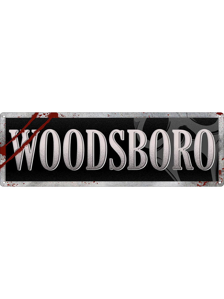 Woodsboro Slim Tin Sign