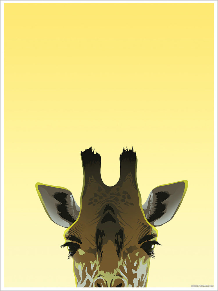 Inquisitive Creatures Giraffe Mini Poster
