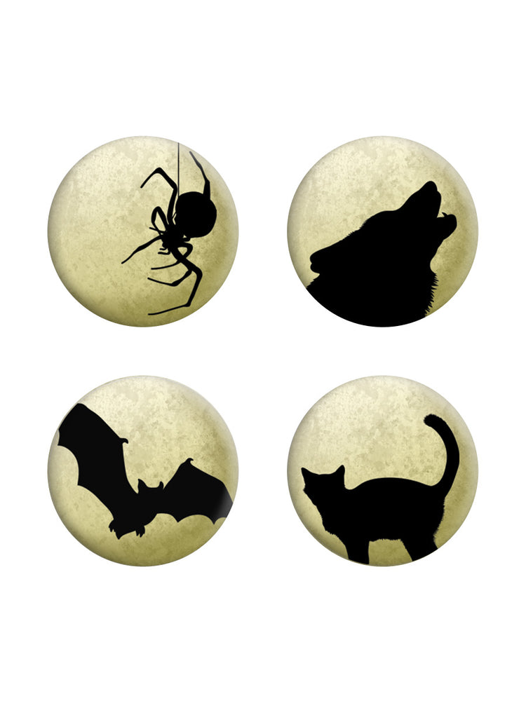 Moonlit Silhouettes Badge Pack