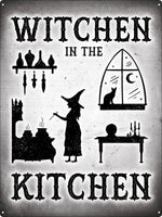 Witchen In The Kitchen Tin Sign