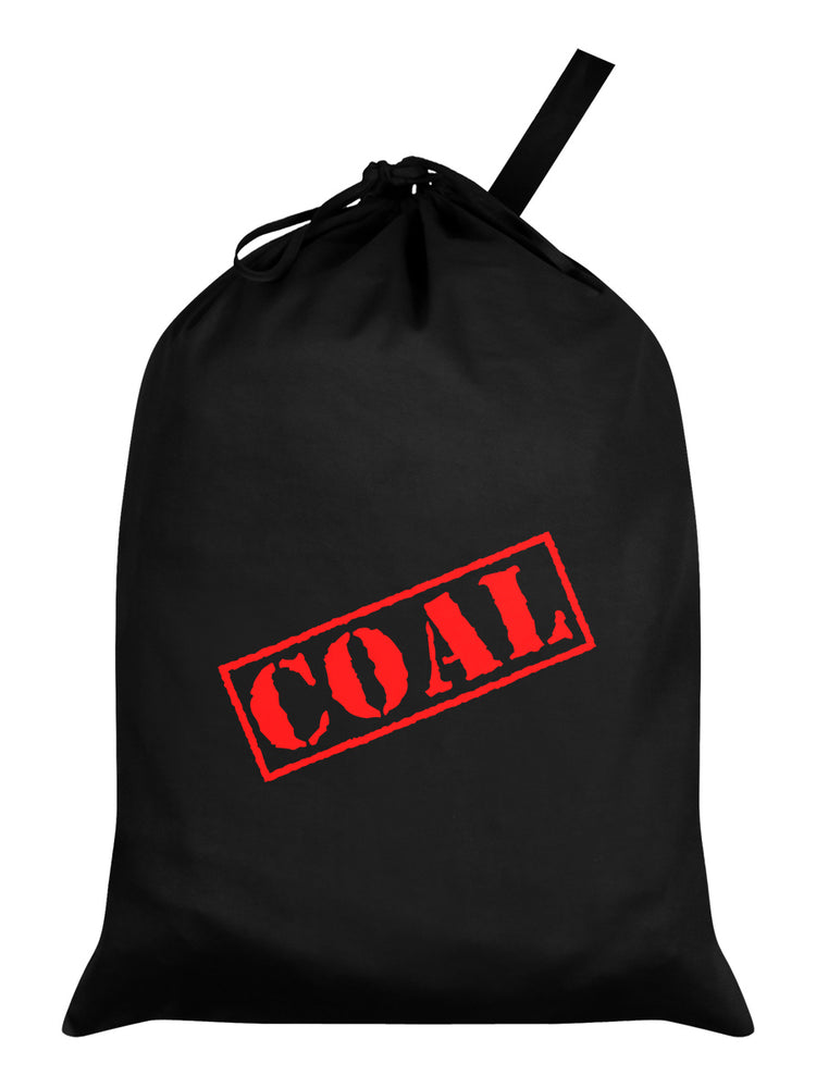 Coal Black Santa Sack