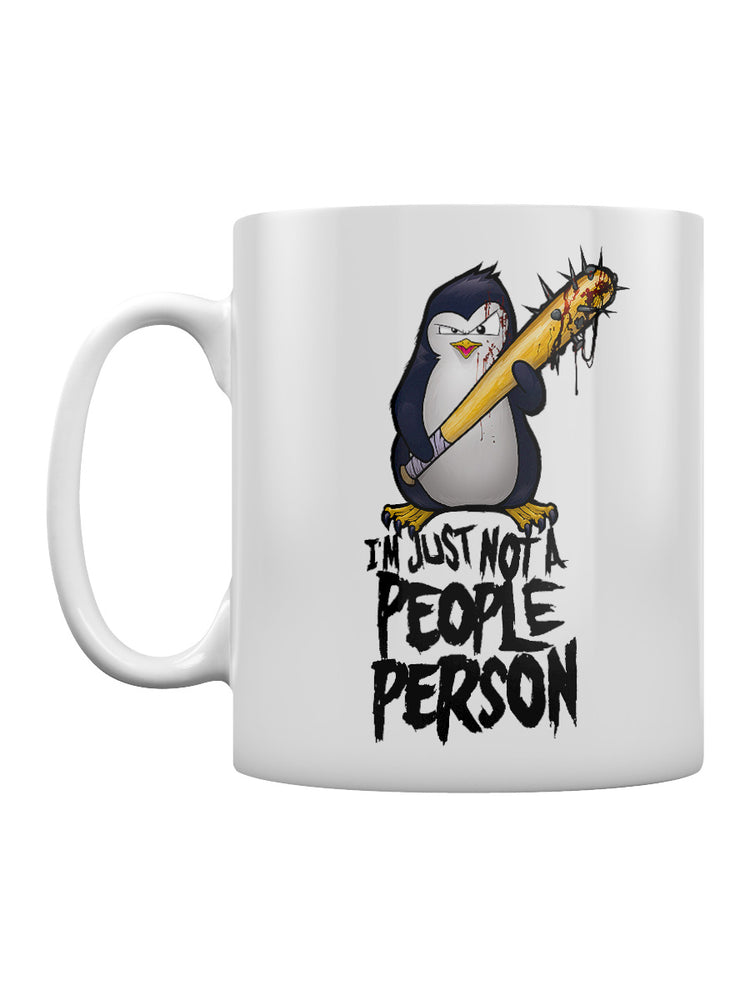 Psycho Penguin Not A People Person Mug