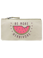 Be More Herbivore Cream Pencil Case