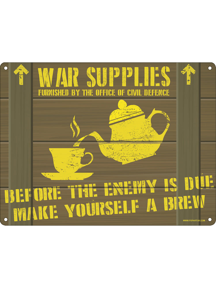 Before The Enemy Is Due Mini Tin Sign