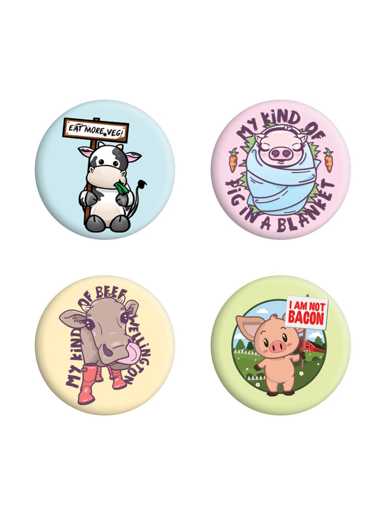 Eat More Veg Badge Pack