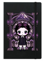 Mio Moon Miss Addams A5 Hard Cover Black Notebook