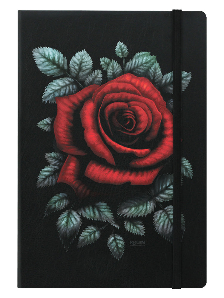 Requiem Collective Cardinal Rose Black A5 Hard Cover Notebook