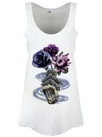 Requiem Collective Death's Bouquet Ladies White Floaty Vest