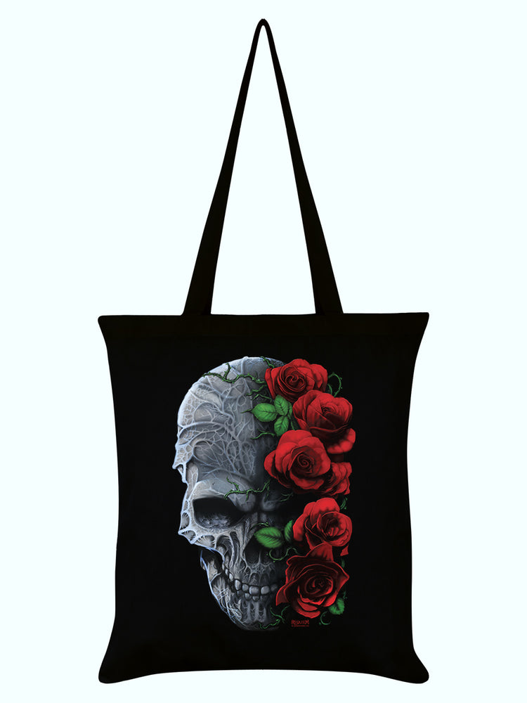 Requiem Collective Immortal Bloom Black Tote Bag