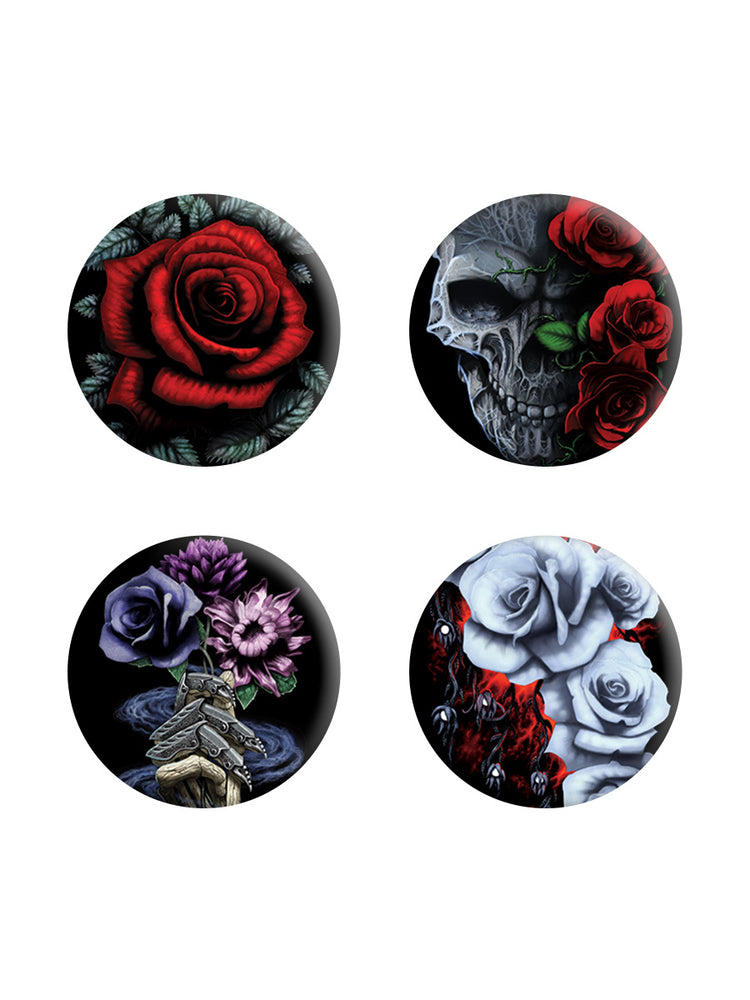 Requiem Collective Cardinal Rose Badge Pack