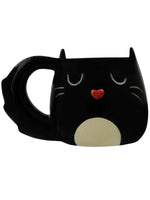 Feline Fine Black Cat Shaped Mug