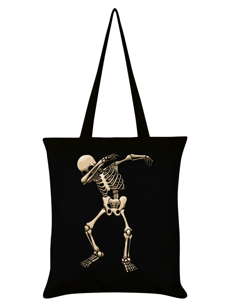 Skeleton Dab Black Tote Bag